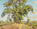 Fine Art - Painting, Russian:Modern (1900-1949), NIKOLAI ALEKSANDROVICH TARKHOV (Russian, 1871-1930). TreeOutside the Village. Oil on artist board. 14-1/4 x 18-1/4inch...