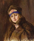 Fine Art - Painting, Russian:Modern (1900-1949), NIKOLAI IVANOVICH KRAVCHENKO (Russian, 1867-1937). Portrait of aWoman, 1921. Oil on canvas. 28 x 19 inches (71.1 x 48.3...