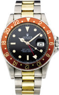 Timepieces:Wristwatch, Rolex Men's Twotone GMT Master Date Wristwatch, Ref. 16750, circa1984. ...