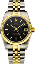Timepieces:Wristwatch, Rolex Lady's Twotone Datejust Wristwatch, circa 1988. ...