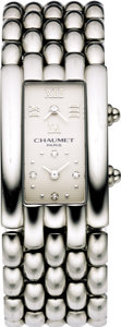 "Timepieces:Wristwatch, Chaumet, Lady's Stainless Steel, ""Kesis"" Dual Time Wristwatch, modern. ..."