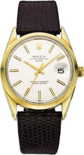 Timepieces:Wristwatch, Rolex Men's Gold, Stainless Steel Oyster Date Wristwatch, Ref.1550, circa 1972. ...