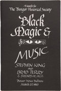 Books:Pamphlets & Tracts, Stephen King and Brad Terry & Friends of Jazz. Black Magic& Music. [Bangor, Maine: The Bangor Historical Society,1983]....
