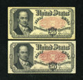 Fractional Currency:Fifth Issue, Fr. 1381 50c Fifth Issue. Two Examples. ... (Total: 2 notes)