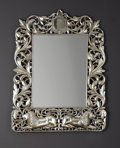 Decorative Arts, British:Other , AN ANGLO-INDIAN-STYLE SILVER MIRROR. 20th Century. 32-3/4 inches(83.2 cm) high. ...