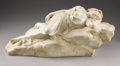 Marble:European, PROPERTY FROM THE JOHN L. PELLEGRINI COLLECTION. . S. BIANCHINI(Italian). Reclining Maiden, Late 19th-Early 20th Centur...