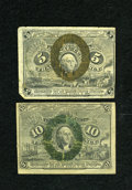 Fractional Currency:Second Issue, Fr. 1233 5c Second Issue VG. Fr. 1245 10c Second Issue VG.... (Total: 2 notes)