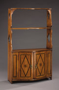 Furniture : French, A MINIATURE FRENCH DIRECTOIRE FRUITWOOD ÉTAGÈRE. Circa 1790-1820. 32 x 19 x 6-1/2 inches (81.3 x 48.3 x 16.5 cm) . ...
