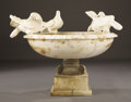 Marble, A MARBLE FOUNTAIN. Late 19th Century. 35 inches (88.9 cm) diameter. ...