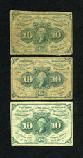 Fractional Currency:First Issue, Fr. 1242 10c First Issue. Three Examples.... (Total: 3 notes)