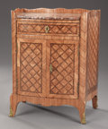 Furniture : French, A FRENCH LOUIS XVITH-STYLE PARQUETRY CABINET. Early 19th Century.21 x 14-1/2 x 15-1/2 inches (53.3 x 36.8 x 39.4 cm). ...