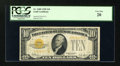 Small Size:Gold Certificates, Fr. 2400 $10 1928 Gold Certificate. PCGS Very Fine 20.. ...