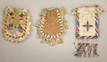 American Indian Art:Beadwork and Quillwork, THREE PLAINS BEADED HIDE POUCHES. c. 1900... (Total: 3 Items)