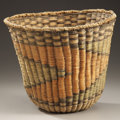 American Indian Art:Baskets, A HOPI POLYCHROME TWINED WICKER BASKET. c. 1940...