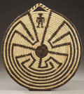 American Indian Art:Baskets, A PAPAGO COILED PLAQUE. c. 1950...