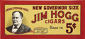 Advertising:Signs, Jim Hogg Paper Cigar Trolley Sign...