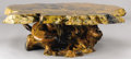 Furniture : American, A FAUX-PETRIFIED WOOD TABLE. 20th Century. 17 x 58 inches (43.2 x147.3 cm). ...