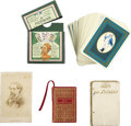 Books:Fiction, [Charles Dickens]. Two Miniature Books, Playing Cards, and aCarte de Visite. All in good or better condition....