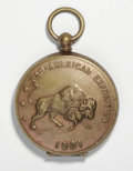 Expositions and Fairs, 1901 Pan-American Exposition Gold Filled Locket, AU55 Uncertified....