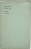 Books:First Editions, [Charles Dickens]. Charles Dickens to John Leech. [N.p.]:Walter Dexter, 1938. First edition. One of 21 privately pr...