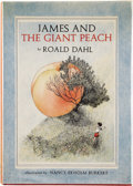 Books:Children's Books, Roald Dahl. James and the Giant Peach. A Children's Story.Illustrated by Nancy Ekholm Burkert. New York: Alfred...