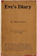 Books:First Editions, Mark Twain. Eve's Diary. Translated from the Original Ms.Illustrated by Lester Ralph. London and New York: Harp...