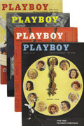 Magazines:Miscellaneous, Playboy Complete 1957 Group of 12 (HMH Publishing, 1957) Condition:Average VF-.... (Total: 12 Items)
