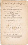 Books:Pamphlets & Tracts, [Samuel Seabury]. Free Thoughts on the Proceedings of theContinental Congress, Held at Philadelphia Sept. 5, 1774:...
