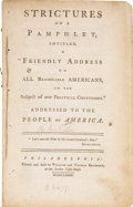 "Books:Pamphlets & Tracts, [Charles Lee]. Strictures on a Pamphlet, Entitled, A ""FriendlyAddress to All Reasonable Americans, on the Subject of Ou..."