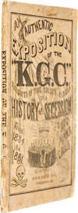 "Books:Non-fiction, [James Hiatt]. An Authentic Exposition of the ""K.G.C."" ""Knightsof the Golden Circle;"" or, A History of Secession From 1..."