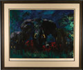Mainstream Illustration, LEROY NEIMAN (American b. 1926). Elephant Stampede, 1976.Serigraph print. 30 x 40 in.. Signed in pencil lower right. ...
