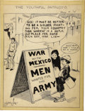 Mainstream Illustration, STANLEY LINK (American 20th Century). The Youthful Patriots,1914. Ink on paper. 16 x 12 in.. Signed lower left. ...