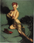 Pin-up and Glamour Art, GIL ELVGREN (American 1914 - 1980). Fascination, 1952. Oilon canvas. 30 x 24 in.. Signed right-center. ...