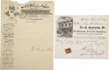 Miscellaneous:Ephemera, Two Letterheads Both have Stagecoach Vignettes'.... (Total: 2 Items)