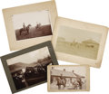 Photography:Cabinet Photos, Four Cowboy Related Photographs 1890s-1900s. ...