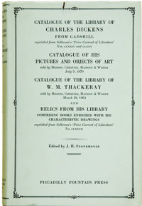 [Charles Dickens]. J. H. Stonehouse. Catalogue of the Library of Charles Dickens from Gadshill