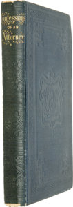 Books:Fiction, [Charles Dickens]. The Confessions of an Attorney by GustavusSharp....