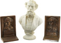 Books:Fiction, [Charles Dickens.] Small Bust of Charles Dickens,... (Total: 3Items)