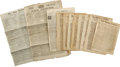 Miscellaneous:Ephemera, Collection of 18th Century British Newspapers... (Total: 12 Items)
