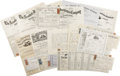 Miscellaneous:Ephemera, 1860s-1870s New York Fire Insurance Document Collection ... (Total:25 Items)
