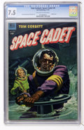 Golden Age (1938-1955):Science Fiction, Tom Corbett Space Cadet #6 (Dell, 1953) CGC VF- 7.5 Off-white towhite pages....