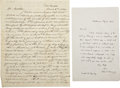 Autographs:Military Figures, Autograph Letters Signed by William R. McKee and John P. Kennedy.... (Total: 2 Items)