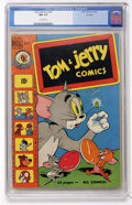 Golden Age (1938-1955):Cartoon Character, Tom and Jerry #74 File Copy (Dell, 1950) CGC NM 9.4 Off-whitepages....