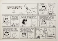 Charles Schulz - Peanuts Sunday Comic Strip Original Art, dated 10-20-91 (United Features Syndicate, 1991)