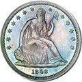 Seated Half Dollars, 1842 50C Small Date, Large Letters MS64 PCGS....