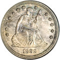 Seated Quarters, 1888-S 25C MS65 NGC....