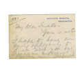Autographs:U.S. Presidents, James A. Garfield Executive Mansion Card Autograph Letter Signed...