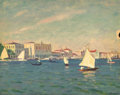 Fine Art - Painting, Russian:Modern (1900-1949), ARNOLD BORISOVICH LAKHOVSKY (Russian, 1880-1937). View ofVenice. Oil on artist board. 13 x 16-1/8 inches (33.0 x 40.9c...