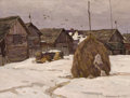 Fine Art - Painting, Russian:Contemporary (1950 to present), YURI SEMENYUK (Russian, b. 1922). Yaroslav Haystacks, 1978.Oil on board. 18 x 23 inches (45.7 x 58.4 cm). Signed lower ...