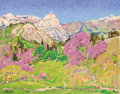 Fine Art - Painting, Russian:Contemporary (1950 to present), NIKOLAI EFIMOVICH TIMKOV (Russian, 1912-1993). KrimeaMountains, 1987. Oil on board. 22 x 28 inches (55.9 x 71.1 cm).Si...